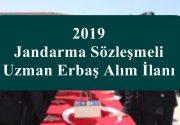 2019 Jandarma Sözleşmeli Uzman Erbaş Alım İlanı