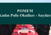 POMEM Kadın Polis Okulları – Sayıları
